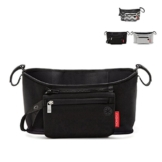 Baby Cart Kinderwagen Tasche Organizer Korb Leinwand Kinderwagen Cup Holder Tasche Wellpappe Schwarz schwarz Carry-on ... -