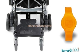 Brevi Wally Trittbrett Kinderwagen + Armband Follow Kids Orange Sicherheitsumhängeband -