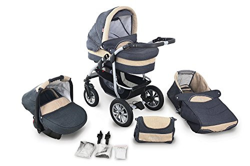 clamaro coral 2016 kinderwagen 3 in 1 kombi system. Black Bedroom Furniture Sets. Home Design Ideas