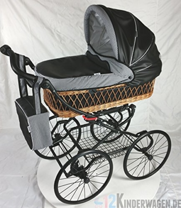 luxus retro kinderwagen babywagen rattan paris hihnqucker inkl buggy einsatz kaufen. Black Bedroom Furniture Sets. Home Design Ideas