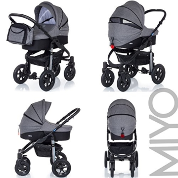 My Junior+® Miyo Kombikinderwagen 3 in 1-3 Years Guarantee-Autositz (11-Teile-Set) -
